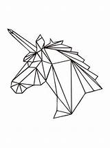 Vormen Geometrische Coloring Pages Fun Geometric Votes Unicorn sketch template