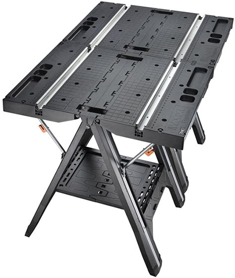 worx pegasus folding work table  clamps   sawhorse mode