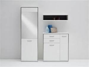 Garderobe 3 Teilig : garderobe grau hochglanz g nstig kaufen bei yatego ~ Indierocktalk.com Haus und Dekorationen