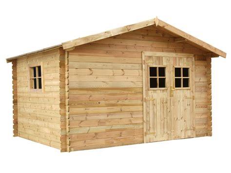 Gartenhaus Blockhaus Holz Kahoya 400x300cm (12m²) Günstig