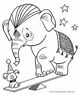 Coloring Elephant Pages Circus Animal Sheets Dog Printable Elephants Bat Halloween Sheet Birthday Getcoloringpages Plate Adult sketch template