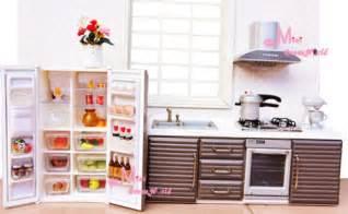 miniature dollhouse kitchen furniture 1 12 dollhouse miniature modern kitchen furniture stove oven frige food doll accessories
