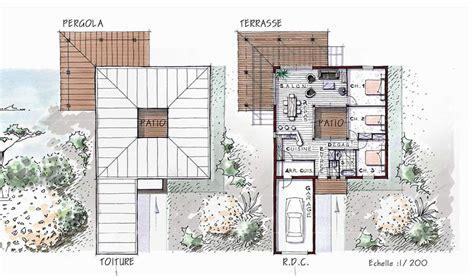 plan plain pied 4 chambres maison ossature bois de plain pied 96 m 3 chambres