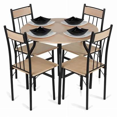 Table Dining Clipart Chairs Transparent Living Chair