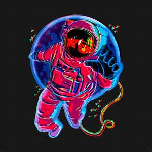 TRIPPY ASTRONAUT - Astronaut - Crewneck Sweatshirt | TeePublic