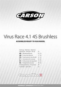 Carson Modelsport Virus Race 4 1 4s Brushless Manual