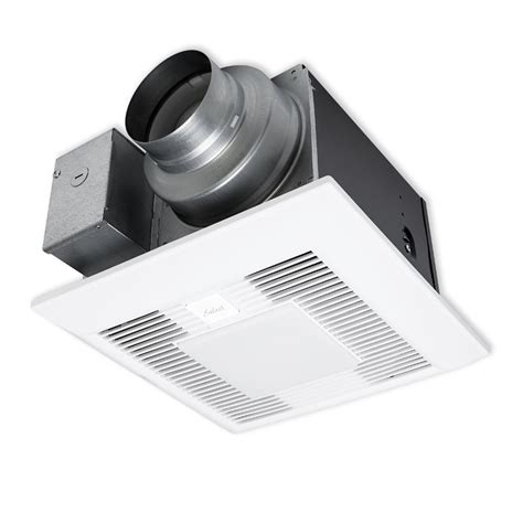 panasonic bathroom fan with led light shop panasonic 0 4 sone 110 cfm white bathroom fan with
