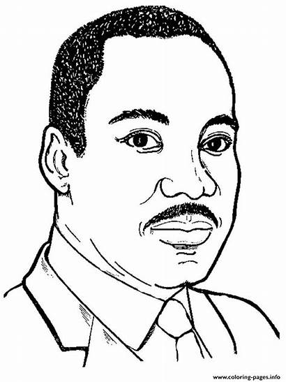 Luther King Coloring Martin Pages Junior Printable