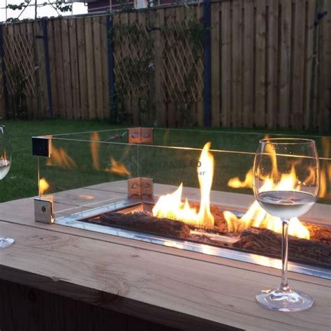 Tisch Mit Feuerstelle Gas by Glassumrandung 80 X 30 Cm Terras Co