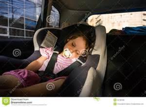 Sleeping Newborn Baby Girl Car Seat