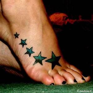 Star Foot Tattoos - Cool Tattoo Designs
