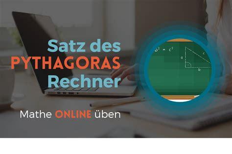 satz des pythagoras rechner dreiecke berechnen auf