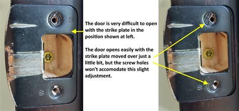 door repair   fix  door  doesnt latch