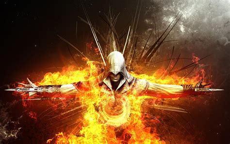 assassins creed  api hd abstrak wallpaper desktop lebar