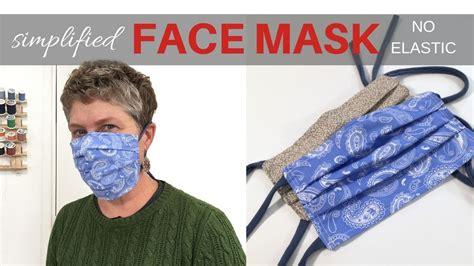 simplified face mask  elastic filter pocket