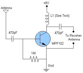 Antenna Amplifier Circuit Diagram
