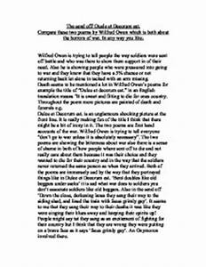 Wilfred Owen Essays Write My Psychology Research Paper Wilfred Owen  Wilfred Owen Dulce Et Decorum Est Annotated