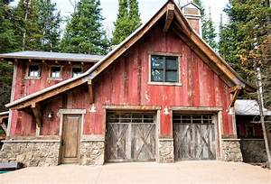 monitor pole barn garage rustic with door interior and