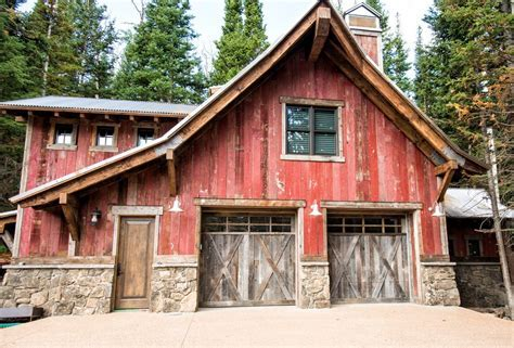 monitor pole barn garage rustic with door interior and