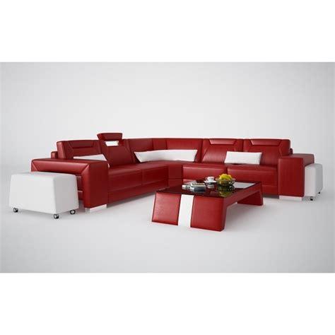 grand canap d angle cuir grand canapé d 39 angle en cuir pleine fleur pop