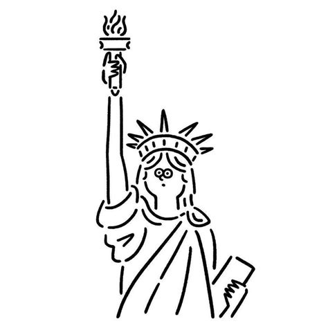 Statue Of Liberty Drawing Template by Statue Of Liberty Drawing Template At Getdrawings