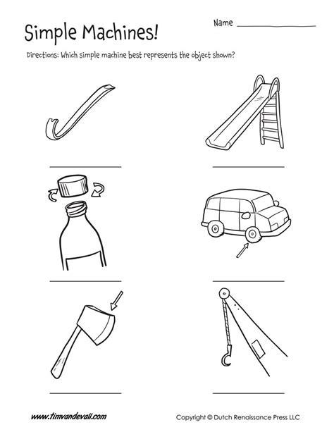 simple machines worksheet tim s printables