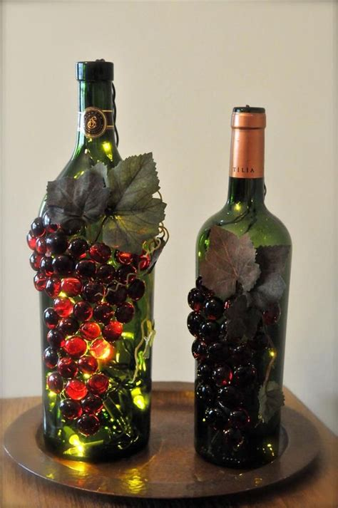 crafts with wine bottles bing wine bottle crafts with lights