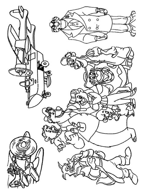 tale spin coloring pages   print tale spin coloring pages