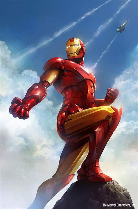 Comic Book Art Iron Man By Blaz Porenta An Exploring