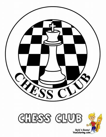 Chess Club Coloring Pages Yescoloring Pieces Chessclub