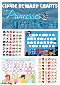 Chore Reward Charts Princesses And Super Heroes Reward