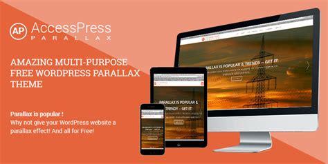 parallax  page wordpress  theme accesspress