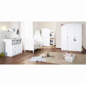 Armoire Bebe Blanche : chambre b b laura lit commode armoire etagere coin bambins d co ~ Melissatoandfro.com Idées de Décoration