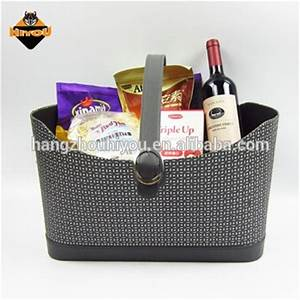 Eco Friendly Pu Leather Christmas Gift Basket Colorful