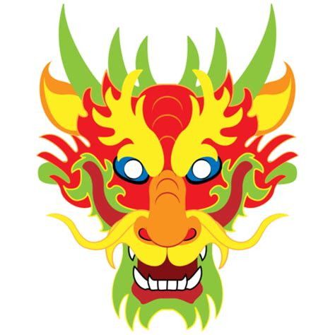 chinese dragon mask template  printable papercraft