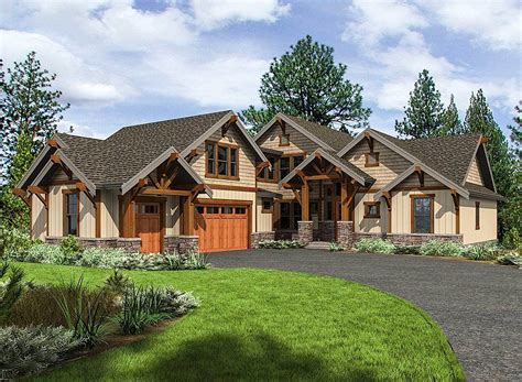 mountainside home plans mountain craftsman house plan with 3 upstairs bedrooms