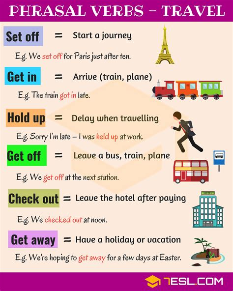 19 Useful Phrasal Verbs For Travel In English  7 E S L