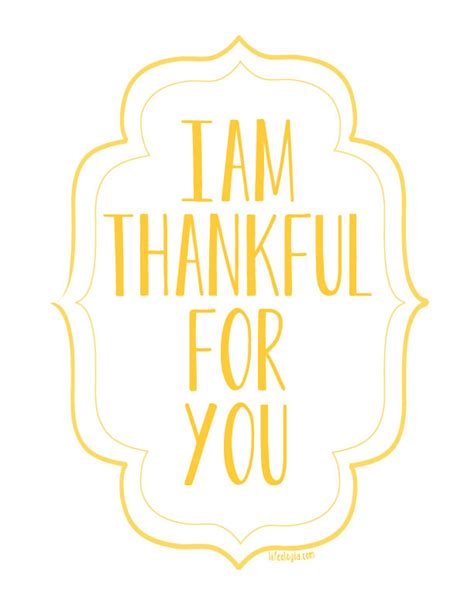 I Am Thankful For You {free Printable Posters}  Pure Ella