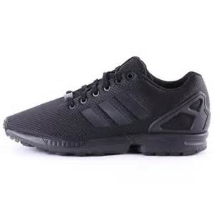 New All Black Adidas Shoes ZX Flux