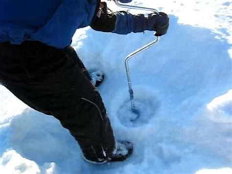 comment percer un trou pour la p 234 che sur la glace au chalet kiamika