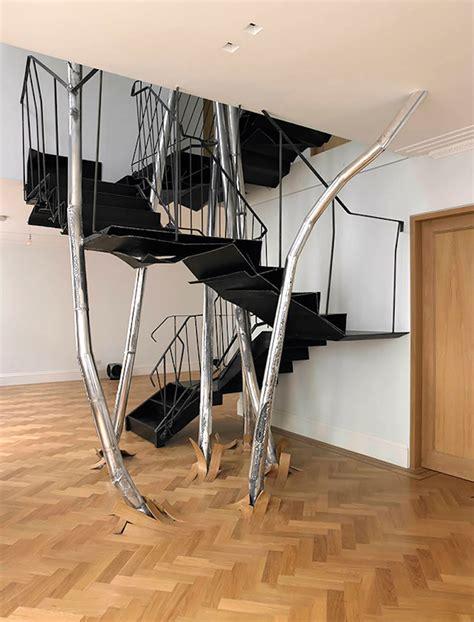Moderne Und Kreative Innenraum Holztreppenwandregal Als Treppe by Designertreppe Die Kreative Treppe Freshouse