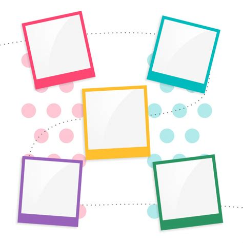 colorful kids scrapbook page template vector