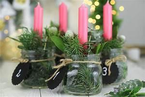 Kerzen Im Weckglas : adventskranz im glas ~ Frokenaadalensverden.com Haus und Dekorationen