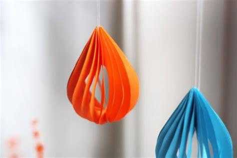 diy paper teardrop ornaments how about orange