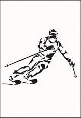 Skiing Drawing Skier Getdrawings sketch template