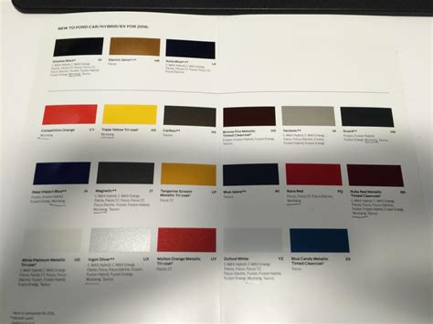 2016 Ford Mustang Paint Colors