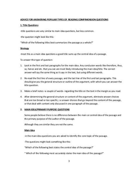 reading comprehension strategies worksheets high school