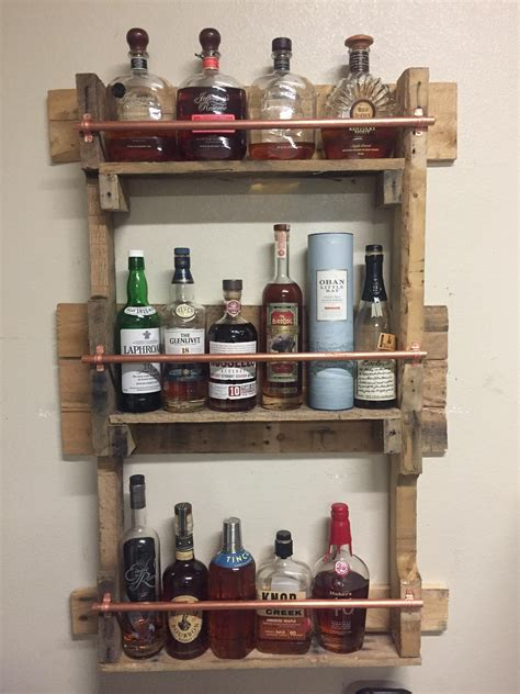 finished  whiskey shelf   garage total cost