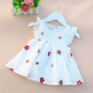 2016 summer cotton newborn baby dress print baby girl ...
