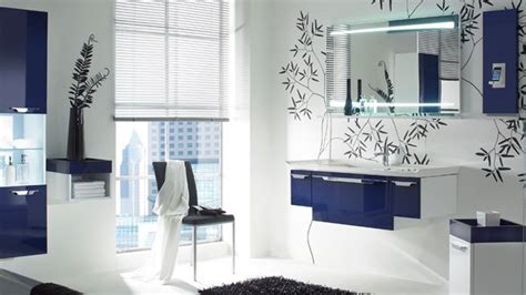 cuisine style marin deco salle de bain bleu marine et blanc